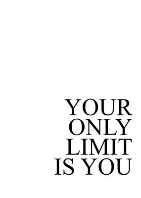 Photograph - Your Only Limit Is You #minimalism by Andrea Anderegg