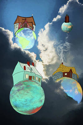 Digital Art - Your Own Little World by John Haldane