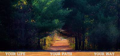 Live Your Life Photograph - Your Path Your Way by Michelle McPhillips