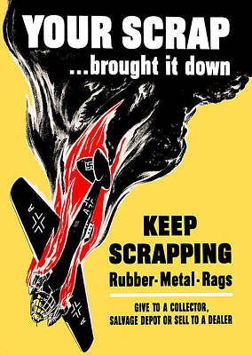 Your Scrap Brought It Down  Art Print by War Is Hell Store