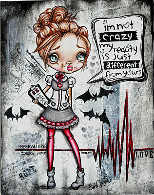 Painting - Your The One That's Crazy by Lizzy Love