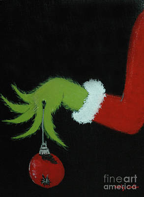 Dr. Seuss Painting - You're A Mean One, Mr. Grinch by Kathy Carlson