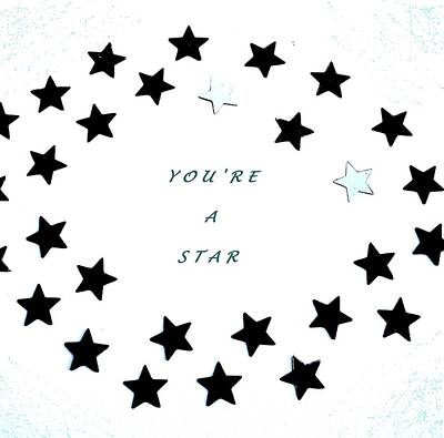 Mixed Media - You're A Star by Mary Ellen Frazee