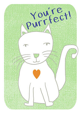 Illustration Mixed Media - You're Purrfect- Art By Linda Woods by Linda Woods