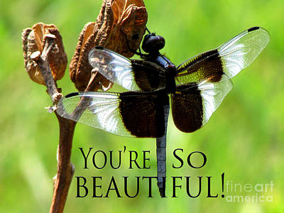 You're So Beautiful Print by Gardening Perfection