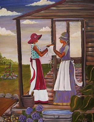 Gullah Painting - The Welcome by Sonja Griffin Evans