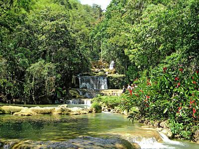 Photograph - Ys Falls Jamaica by Debbie Oppermann