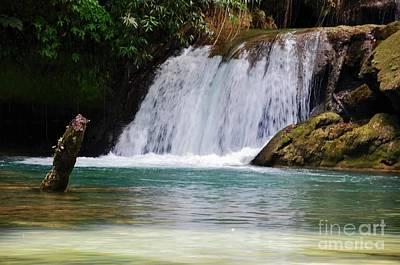 Colourfull Photograph - Y S Falls  South Coast, St Elizabeth Parish   Jamaica by Elaine Manley