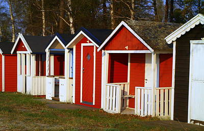 Photograph - Ystad Beach Huts by Michael Canning
