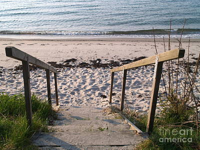 Photograph - Ystad Beach Steps by Michael Canning