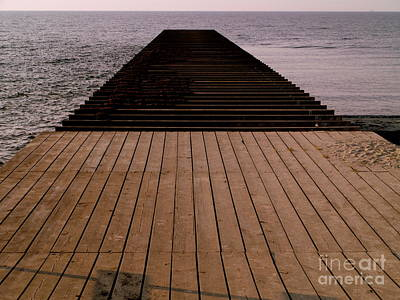 Photograph - Ystad Jetty by Michael Canning