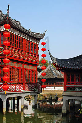 Tea Photograph - Yu Gardens - A Classic Chinese Garden In Shanghai by Christine Till