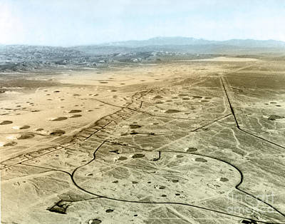 A-bomb Photograph - Yucca Flat Bomb Craters by Science Source