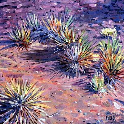 Yucca Painting - Yucca In Monument Valley by Donald Maier