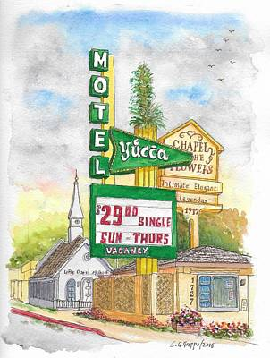 Yucca Motel And Little Chapel Of The Flowers, Las Vegas, Nevada Original by Carlos G Groppa