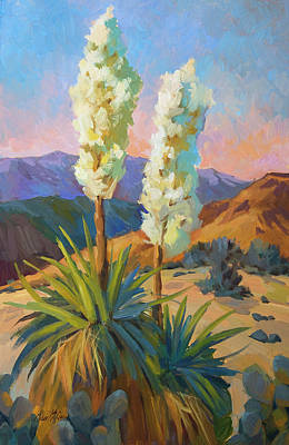 High Desert Painting - Yuccas by Diane McClary