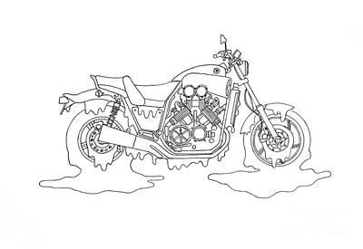 Yucky Yamaha Art Print
