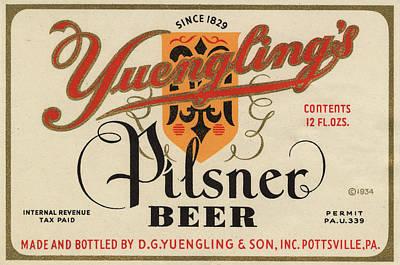 Digital Art - Yuenglings Pilsner by Vintage Pix