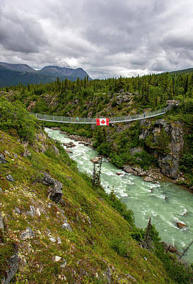 Photograph - Yukon Suspension Bridge by Anthony Jones