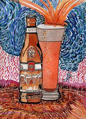 Painting - Yum Burr Hyf. Beer by Connie Valasco