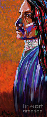 Indian Contemporary Artist Painting - Yuma Man by Tracy Miller