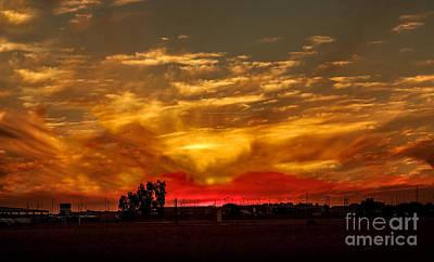 Snowbird Photograph - Yuma Sunset by Robert Bales