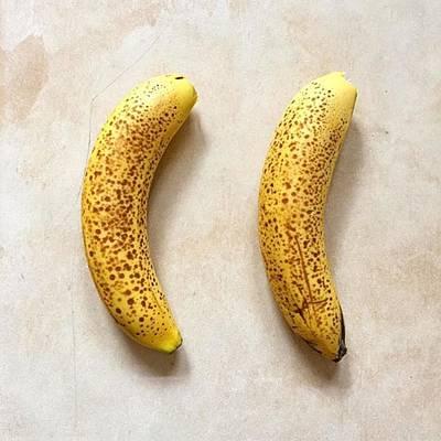 Banana Photograph - Yummy Bananas #happy #breakfast #vegan by Joe Morley