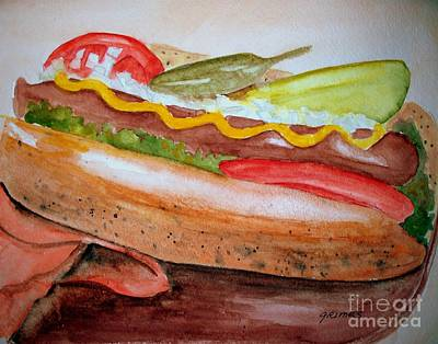 Yummy Chicago Dog Original by Carol Grimes