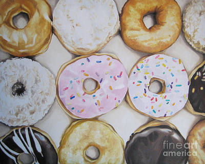 Painting - Yummy Donuts by Jindra Noewi