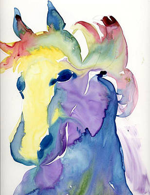 Yupo Horse Original by Janet Doggett