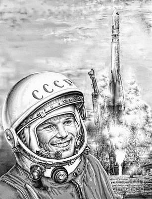 Digital Art - Yuri Gagarin - Cosmonaut 1961 by Ian Gledhill