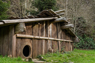 Yurts Photograph - Yurok Housing by Greg Nyquist