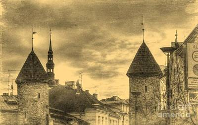 The Church Mixed Media - Yury Bashkin Old Tallin by Yury Bashkin