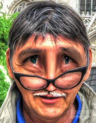 Self-portrait Mixed Media - Yury Bashkin Self-portrait by Yury Bashkin