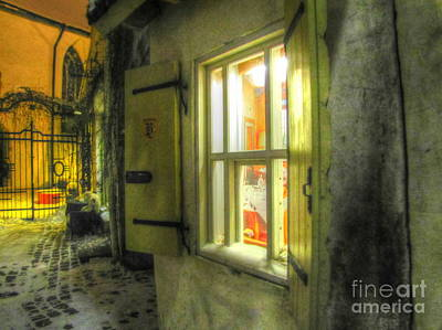 The Church Mixed Media - Yury Bashkin Tallin Night by Yury Bashkin