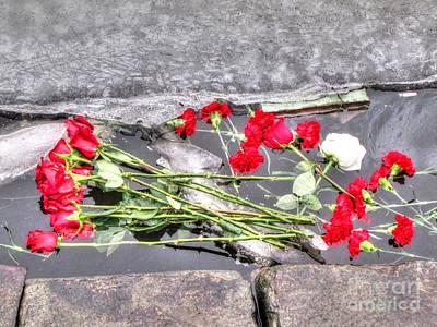A Hand-thrown Pyrography - Yury Bashkin Thrown Flowers by Yury Bashkin