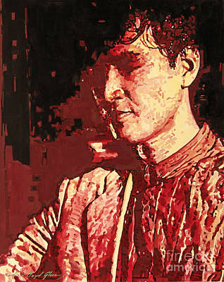 Pop Icon Painting - Yusaku Matsuda by David Lloyd Glover