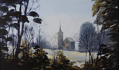 Painting - Yvoire Church by Robert Foster