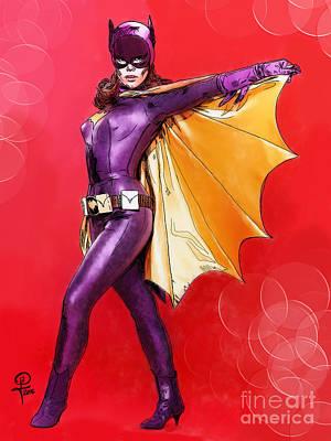 Digital Art - Yvonne Craig's Batgirl by Joseph Burke