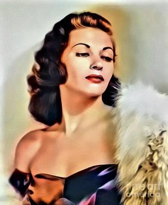 Classic Singer Digital Art - Yvonne De Carlo, Vintage Actress. Digital Art By Mb by Mary Bassett