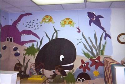 Painting - Ywca Mural by Anna Villarreal Garbis
