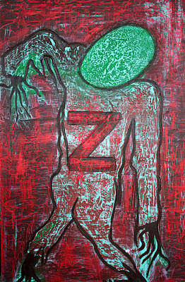 Halloween Artwork Mixed Media - Z 4 Zombie by Laura Barbosa