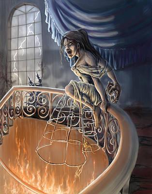 Digital Art - Z-bookworm Princess by Rob Carlos