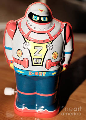 Photograph - Z-bot Robot Toy by Edward Fielding