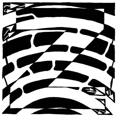 Alphabet Mazes Drawing - Z Maze by Yonatan Frimer Maze Artist
