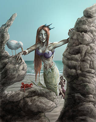 Digital Art - Z-mermaid Princess by Rob Carlos