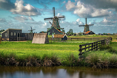 Netherlands Windmill Photograph - Zaanse Schans And Farm by James Udall