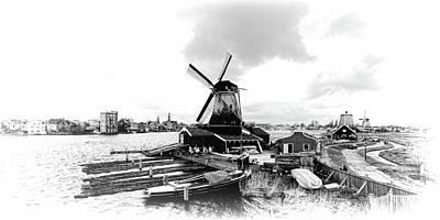Photograph - Zaanse Schans Panorama by Jenny Hudson