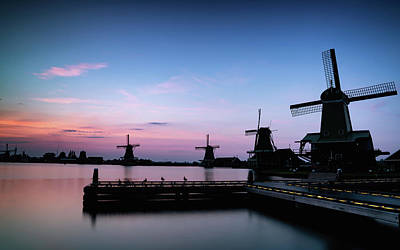 Photograph - Zaanse Schans Silhouettes by Framing Places
