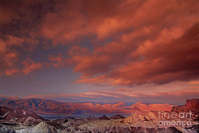 Photograph - Zabriski Point Sunrise Death Valley National Park California by Dave Welling